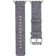 Eternico 42mm Apple Watch Canvas Band, Grey - Watch band