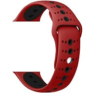 Eternico Apple Watch 38/40mm Silicone Polka Dot Band, Red Black - Watch band