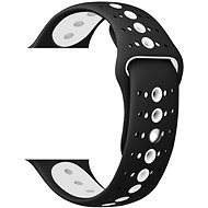 Watch Band Eternico 42mm / 44mm Silicone Polkadot Band Black White for Apple Watch