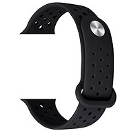 Eternico 38mm Apple Watch Silicone Band, Black - Watch band