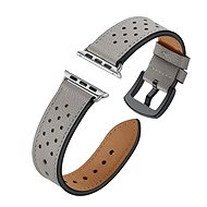 Eternico 42mm Apple Watch Leather Band, Grey - Watch band