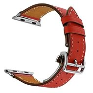 Eternico Apple Watch 42mm Leather Strap Red - Watch band