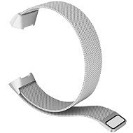 Eternico Fitbit Charge 3 / 4  Steel Silver (Large) - Watch band