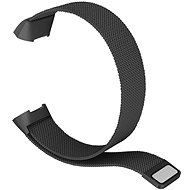 Eternico Fitbit Charge 3 / 4 Steel Black (Large) - Watch band