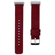 Eternico Fitbit Charge 3 Canvas Red (Large) - Watch band