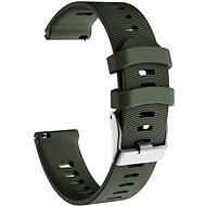 Eternico Garmin Quick Release 20 Silicone Band Steel Buckle, Green - Watch band