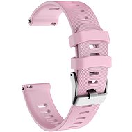 Eternico Garmin Quick Release 20 Silicone Band Steel Buckle, Pink - Watch band