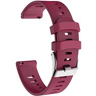 Eternico Garmin Quick Release 20 Silicone Band Steel Buckle, Purple - Watch band