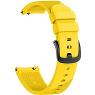 Eternico Garmin Quick Release 20 Silicone Band, Yellow - Watch band