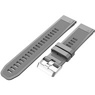 Watch band Eternico Garmin Quick Release 22 Silicone Band Silicone Silver Buckle, Grey - Řemínek