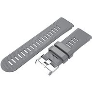 Watch band Eternico Garmin Quick Release 26 Silicone Band Silicone Silver Buckle, Grey - Řemínek