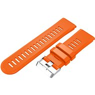 Watch band Eternico Garmin Quick Release 26 Silicone Band Silicone Silver Buckle, Orange - Řemínek