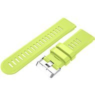 Eternico Garmin Quick Release 26 Silicone Band Silicone Silver Buckle, Lime - Watch band