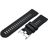 Watch band Eternico Garmin Quick Release 26 Silicone Band Silicone Silver Buckle, Black - Řemínek