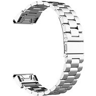 Eternico Garmin 22 Stainless Steel Band Silver Steel Buckle, Silver - Watch band