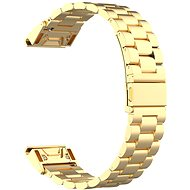 Watch band Eternico Garmin 22 Stainless Steel Band Silver Steel Buckle, Gold - Řemínek