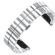 Eternico Garmin Quick Release 26 Stainless Steel Band Steel Plating, Silver - Watch band