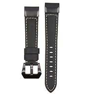 Watch band Eternico Garmin Quick Release 22 Genuine Leather, Black - Řemínek