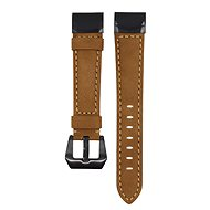 Watch band Eternico Garmin Quick Release 22 Genuine Leather, Brown - Řemínek