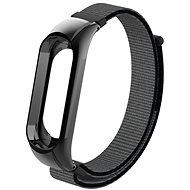 Eternico Mi Band 3 Nylon Grey Black - Watch band