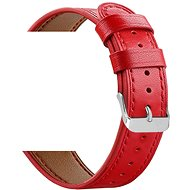 Eternico Quick Release 20 Leather Band red for Samsung Galaxy Watch - Watch Band