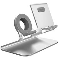 AhaStyle Stand for Mobile Phones and Watches 2-in-1, Silver - Mobile Phone Holder