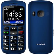 Aligator A670 Senior Blue + Charging Stand - Mobile Phone