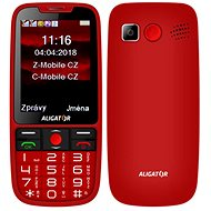 ALIGATOR A890 GPS Senior red - Mobile Phone