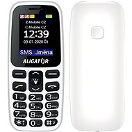 Senior Aligator A220 , White - Mobile Phone