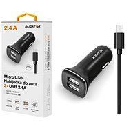 ALIGATOR MicroUSB with 2xUSB output 2,4A, TCH, black - Charger