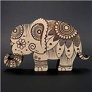 AMADEA Wooden Elephant Decoration, Solid Wood 15x9,5x1,8cm - Decoration