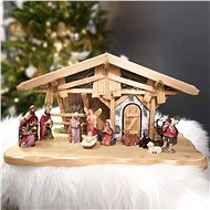 AMADEA Wooden Nativity Scene (without Figures) 44cm - Decoration