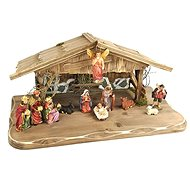 AMADEA Wooden Nativity Scene Grey-brown WITHOUT FIGURES 45cm - Decoration