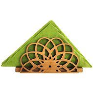 AMADEA Wooden Napkin Stand in the Shape of a Mandala, Solid Wood, 12.3x6.5x3.5cm - Stand