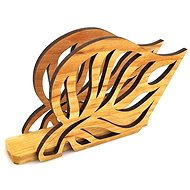 AMADEA Wooden Napkin Holder in the Shape of a Leaf, Solid Alder, 14x8.5x3.5cm - Stand