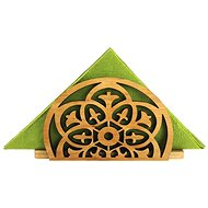 AMADEA Wooden Napkin Holder with Oriental Motif, Solid Wood, 12.5x6.5x3.5cm - Stand