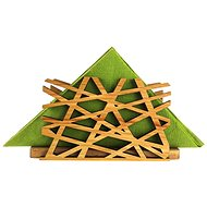 AMADEA Wooden Napkin Holder with Net Motif, Solid Wood, 12.5x6.5x3.5cm - Stand