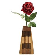AMADEA Wooden Triangular Vase, Solid Wood of Four Tree Species, Height of 23cm - Vase