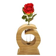 AMADEA Wooden Vase in the Shape of a Wave, Solid Wood, Height of 12cm - Vase
