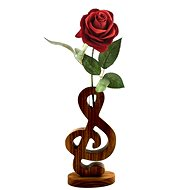AMADEA Wooden Vase in the Shape of a Treble Clef, Solid Wood, Height of 24cm - Vase
