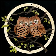 AMADEA Wooden Ornament with an Owl in a Circle of 18cm - Christmas decorations