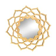 AMADEA Wooden Mirror in the Shape of a Mandala, Solid Wood, Diameter of 40cm - Mirror