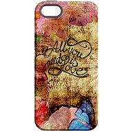 """MojePouzdro """"Love is All You Need"""" + Protective Glass for iPhone 6/6S - Protective case by Alza"""
