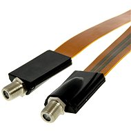Flat Coax Cable for Windows and Doors - 50cm - F-socket