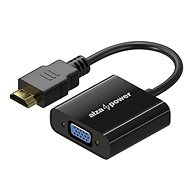 AlzaPower HDMI (M) to VGA (F) 0.1m - Adapter