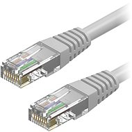 AlzaPower Patch CAT5E UTP 0.25m Grey - Network Cable