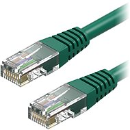 AlzaPower Patch CAT5E UTP 0.25m Green - Network Cable