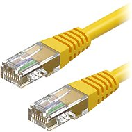 AlzaPower Patch CAT5E UTP 0.25m Yellow - Network Cable
