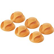 AlzaPower Cable Clips, 6pcs, Orange - Cable Organiser