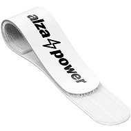 AlzaPower Wall VelcroStrap+, 10pcs, White - Cable Organiser
